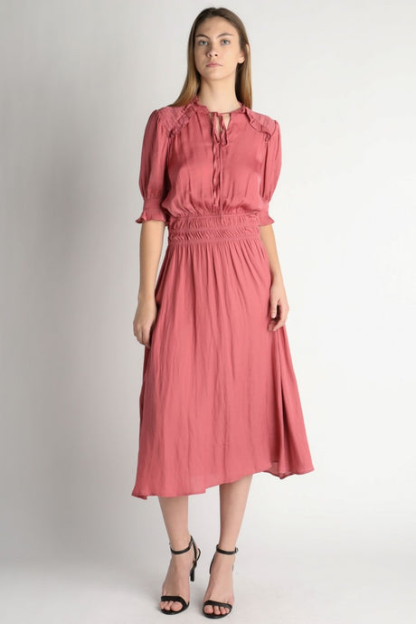 Silk-Like Midi Dress