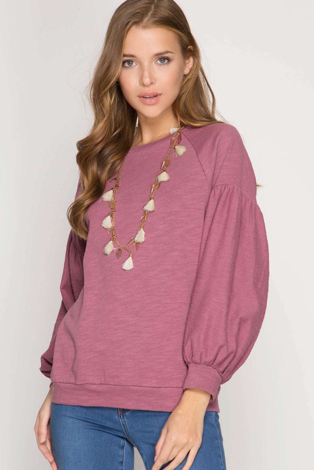 Balloon Sleeve Top