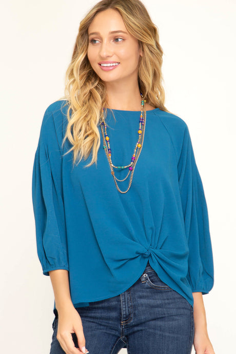 Woven Twisted Detailed Top