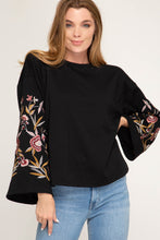 Bell Sleeve Embroidered Sweater