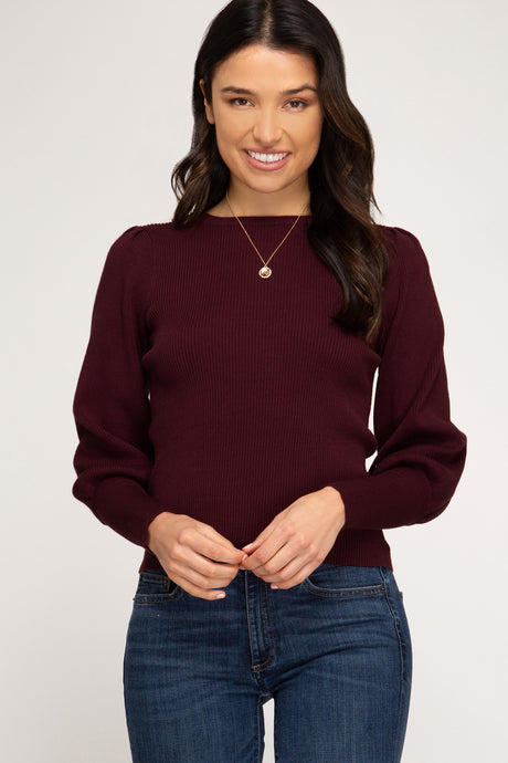Campbell Rib Top, Wine