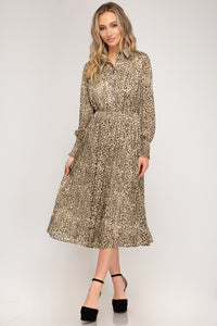 Leopard Dress, Taupe