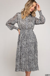 Leopard Dress, Grey