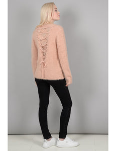Fuzzy Lace Sweater