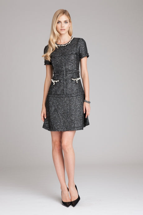 Tweed Pearl Dress