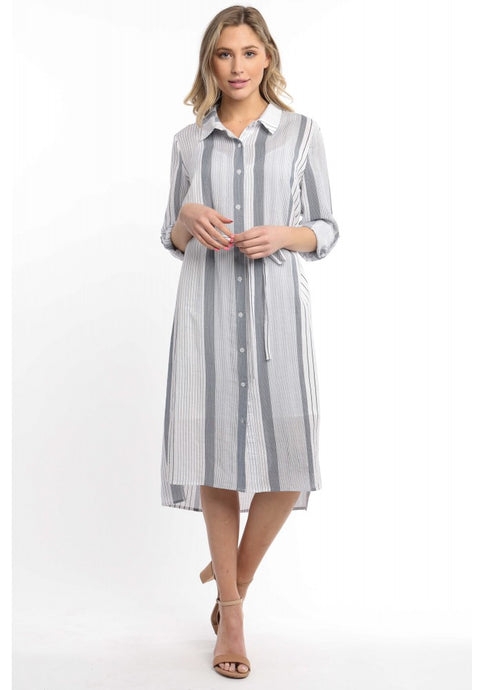 Mutli Stripe Shirt Dress