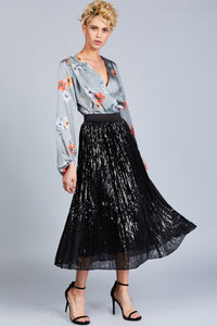 Sequined Tulle Skirt