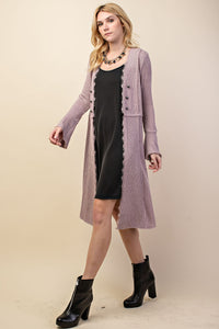 Knit Long Cardigan