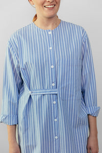 Stripe Cotton Shirtdress