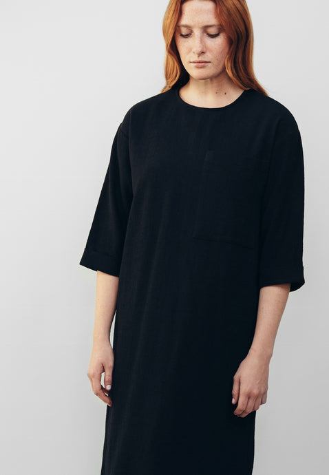 Oversized Pocket Dress, Black