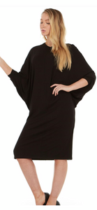 Batwing Dress, Black