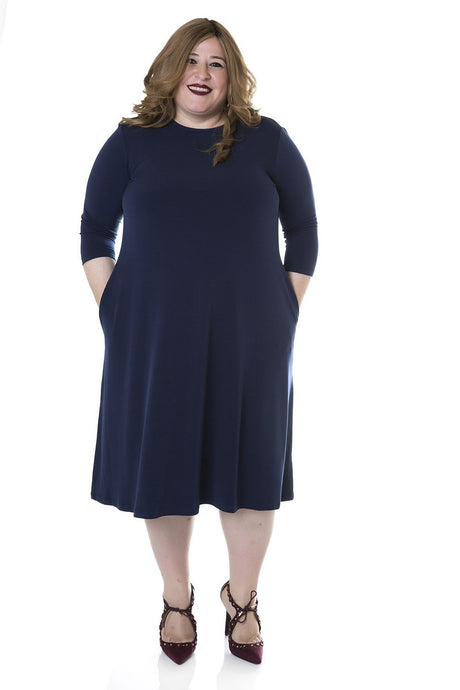 Tammee Dress, Navy