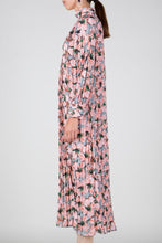 Pleated Floral Maxi