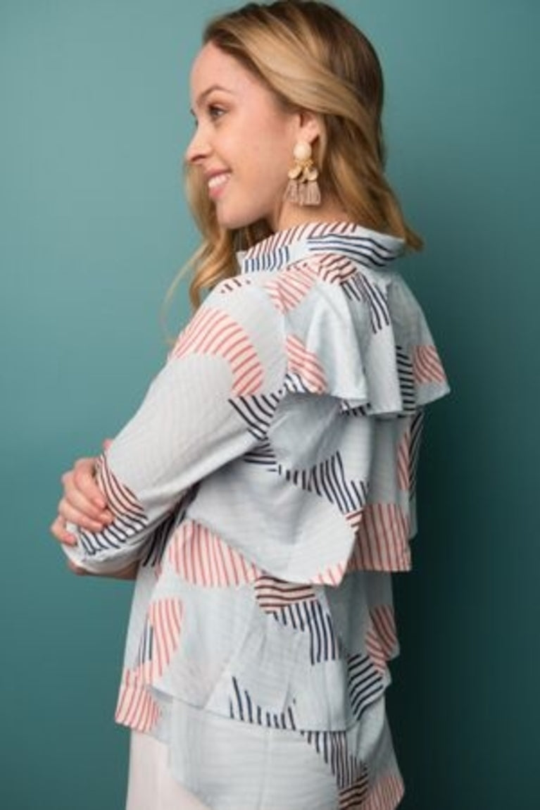 Ruffled Back Blouse