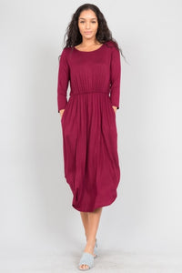 Shirttail Midi Dress
