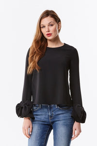 Bow Sleeve Top