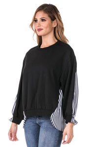 Striped Contrast Top