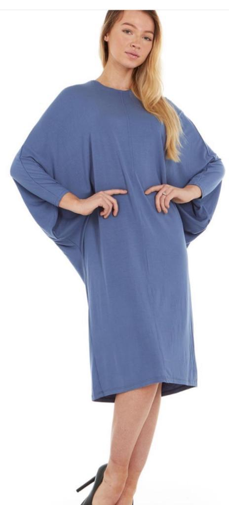 Batwing Dress, Blue