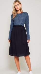 Belt Tie Sweater Dress