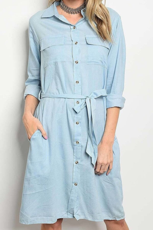 Lightweight Denim Dress