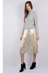 Shimmer Pleated Skirt