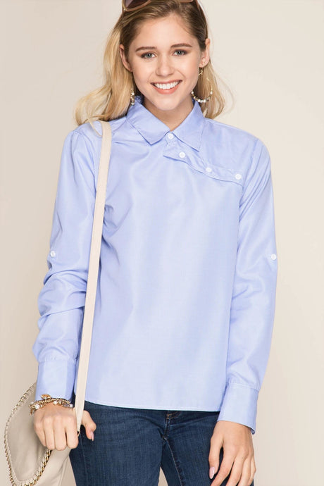 Asymmetrical Neck Placket