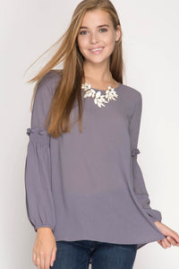 Sleeve Smock Top