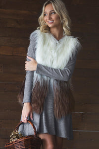 Two Toned Faux Vest