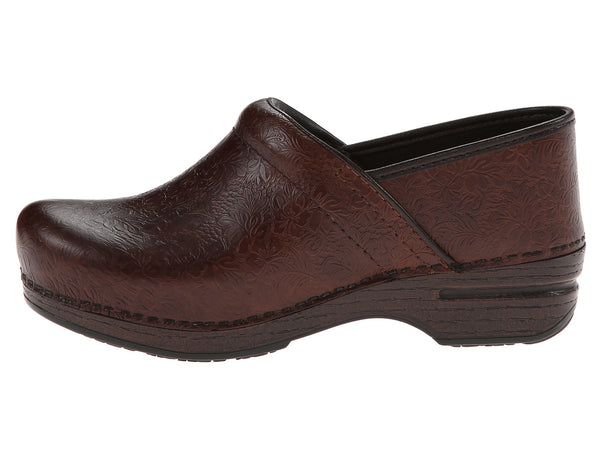 Dansko Pro Xp (Brown Floral Tooled)