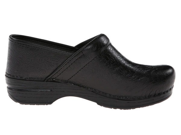 Dansko Pro XP (Black Floral Tooled)