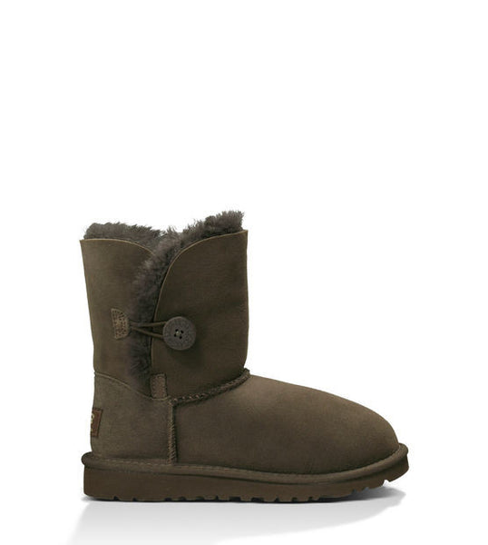 UGG Kids' Bailey Button (Chocolate)