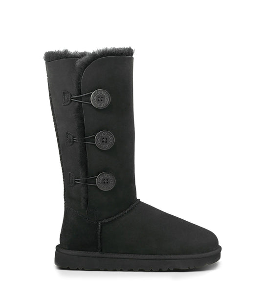 UGG Kids Bailey Button Triplet (Black)