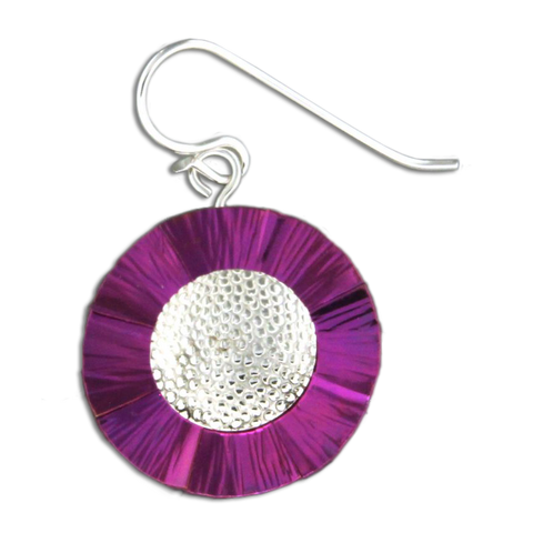 Flower Earrings - Violet