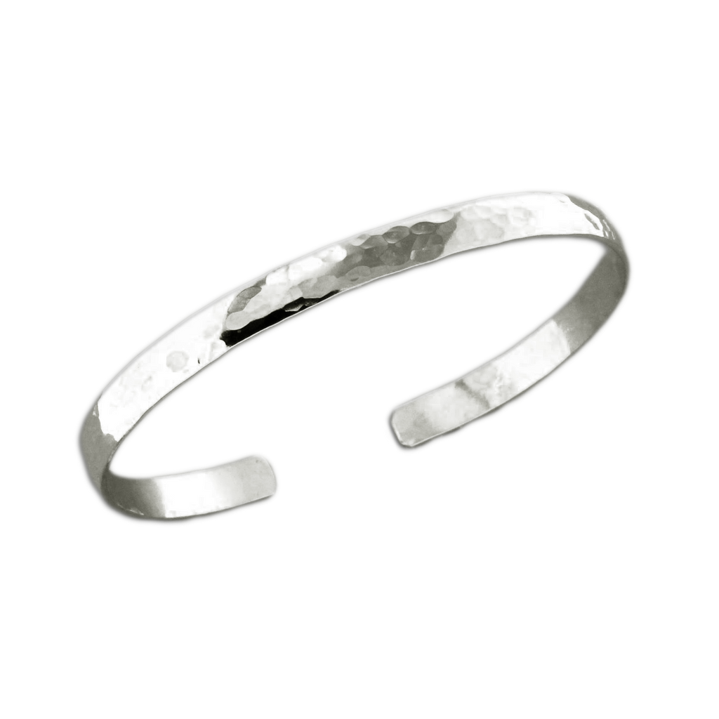 Cuff Bracelet Low Dome - Sterling Silver