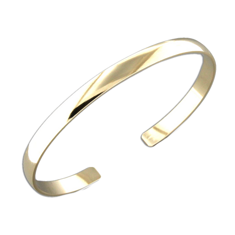 Cuff Bracelet 4.6mm Low Dome - Gold Filled