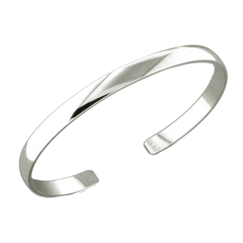 Cuff Bracelet 4.6mm Low Dome - Sterling Silver