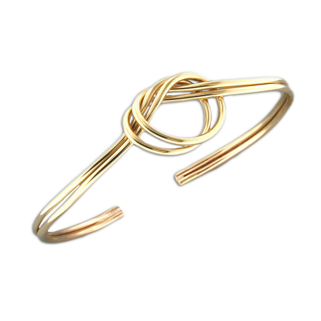 Cuff Bracelet Love Knot - Gold Filled