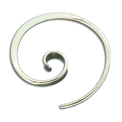 Forged Koru Earrings - Gold Filled
