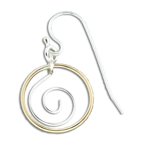 Zoru Circled Earrings - Mix Metals
