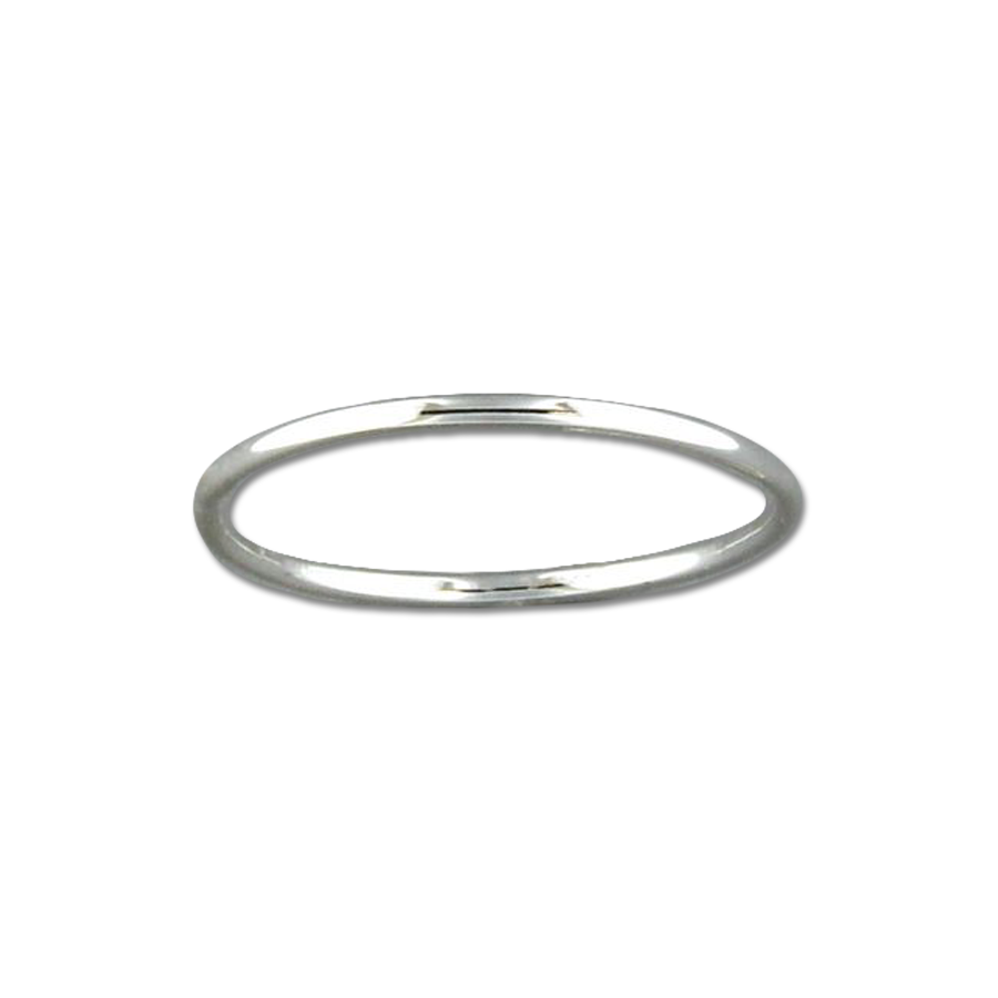 Round 1mm Ring - Sterling Silver