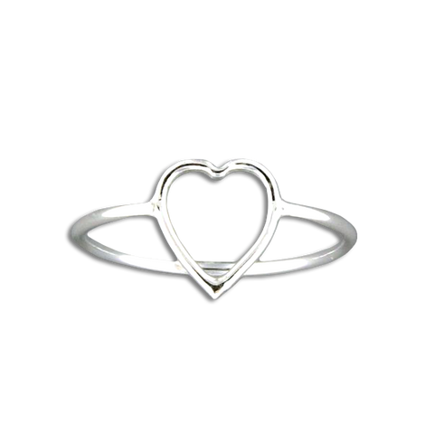 Heart Ring - Sterling Silver
