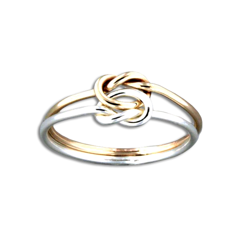 Love Knot Ring - Mix Metals