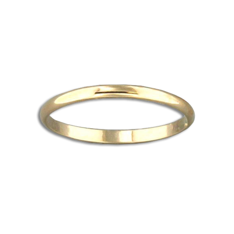 Half Round Ring - 1.6mm - Gold Filled