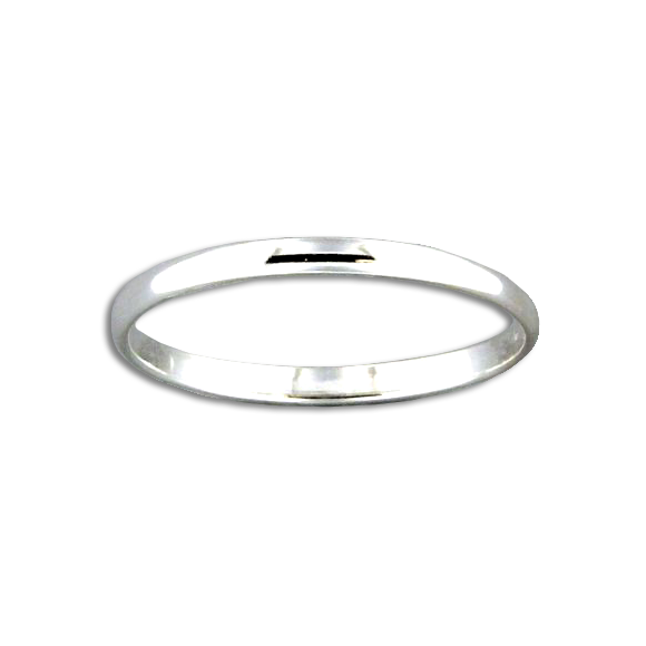 Half Round Ring - 1.6mm - Sterling Silver