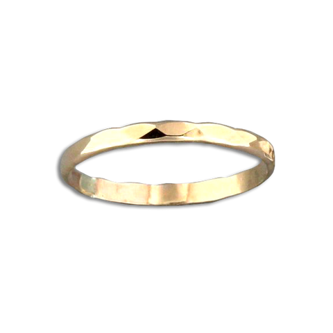Random Facet Ring - Gold Filled