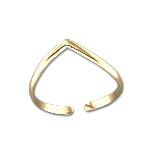 V Adjustable Toe Ring - Gold Filled