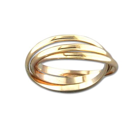 Rolling Trio Ring - Gold Filled