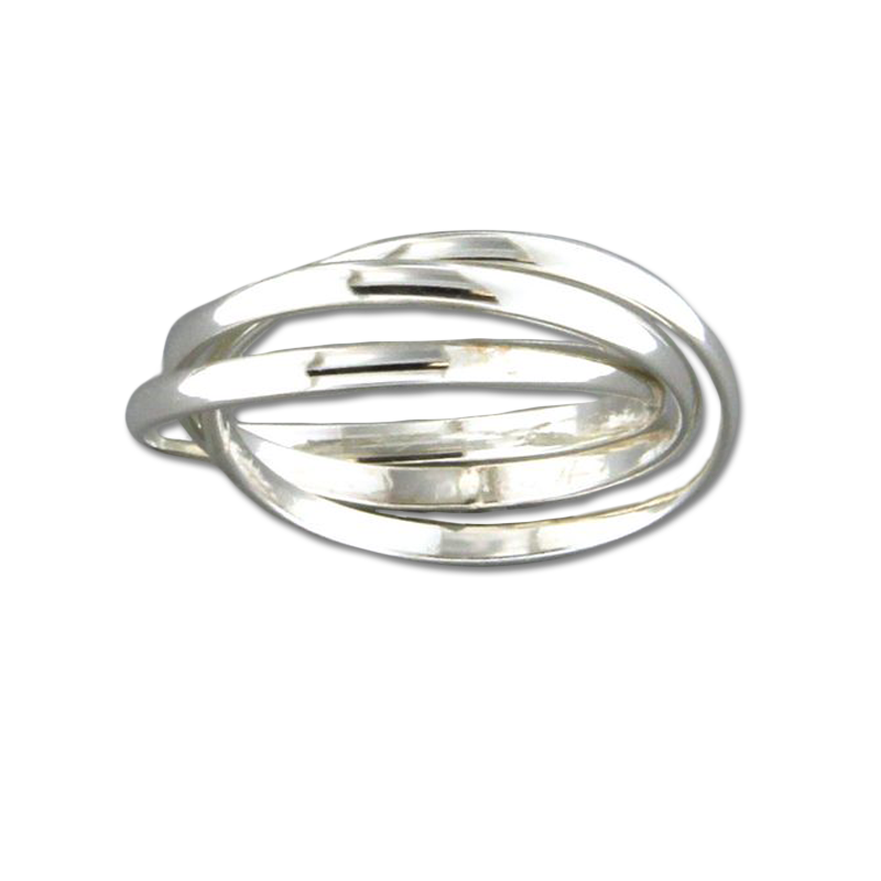 Rolling Trio Ring - Sterling Silver