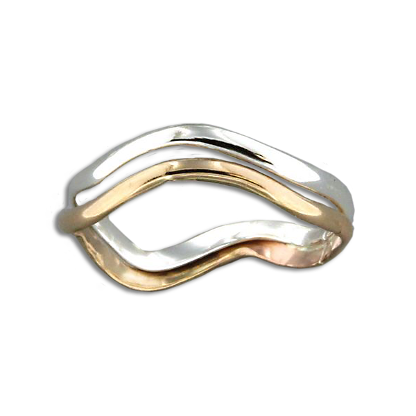 Double Wave Ring - Mix Metals