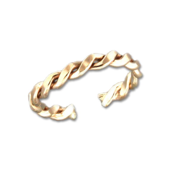 Braid Adjustable Toe Ring - Gold Filled